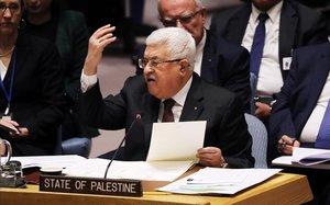 Abbas demana davant de l'ONU un «rebuig complet» del pla de pau de Trump per a Palestina