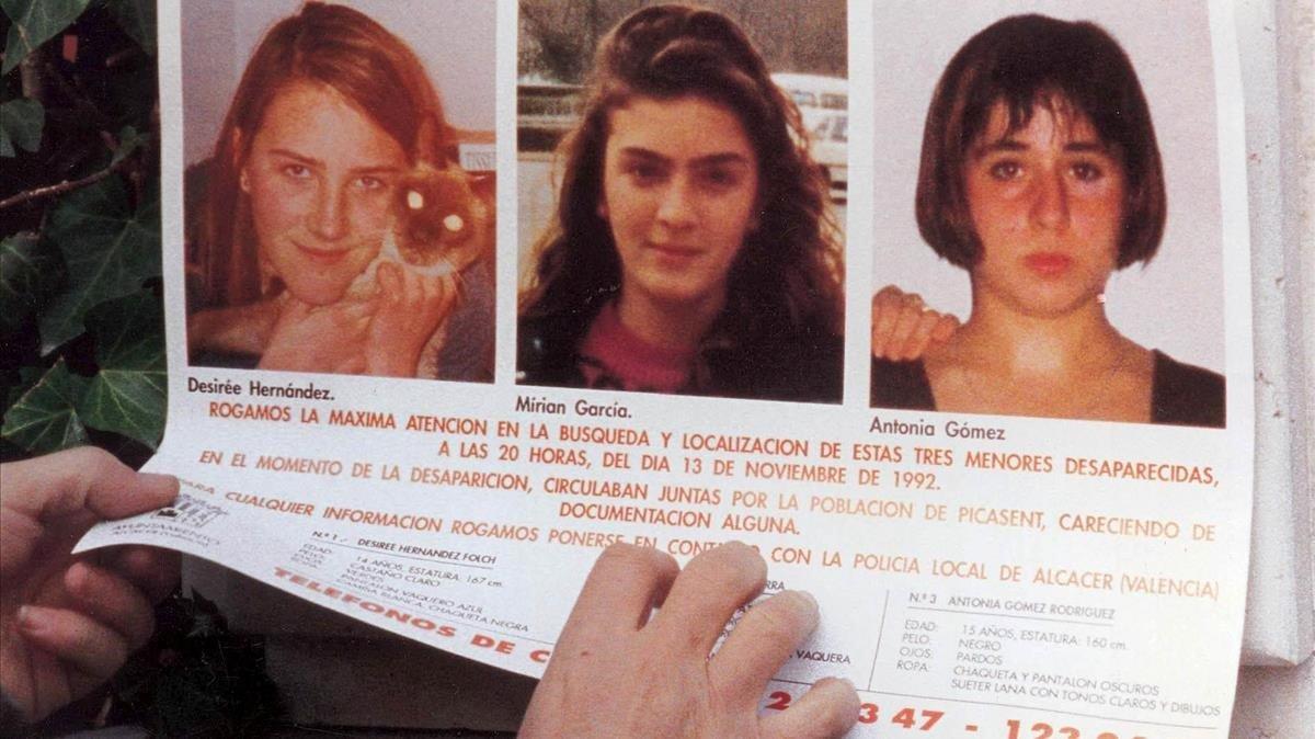 Escena del documental 'El caso Alcàsser'.