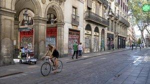 Imagen de la calle de Ferran, junto a la Rambla, el pasado viernes.