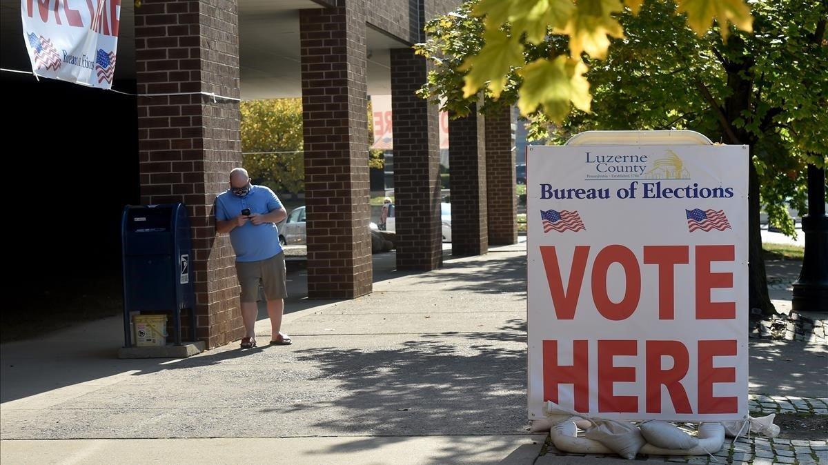 Colegio electoral en Pensilvania.