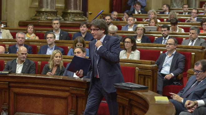 Puigdemont se enfrenta a la cuestión de confianza. O referéndum o referéndum, en septiembre del 2017