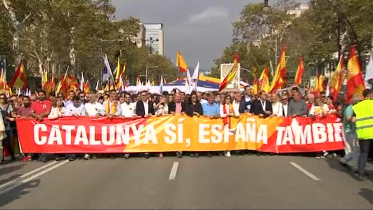 Catalunya sí, España también es el lema de la manifestación de Barcelona el 12 de octubre