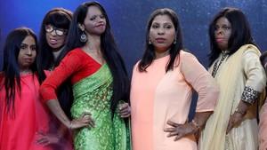 zentauroepp42433077 acid attack survivors pose during a fashion show to mark int180308124143