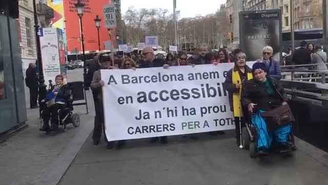 Manifestación de pensiomistas en Barcelona