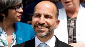 El consejero delegado, Dara Khosrowshahi, en Francia.