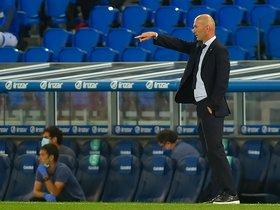 Zinedine Zidane duranteel último partido del Real Madrid.