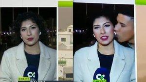 Una reportera de la televisión canaria sufre el acoso de un joven en directo