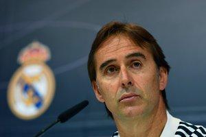 Julen Lopetegui, entrenador del Real Madrid, este viernes en rueda de prensa.