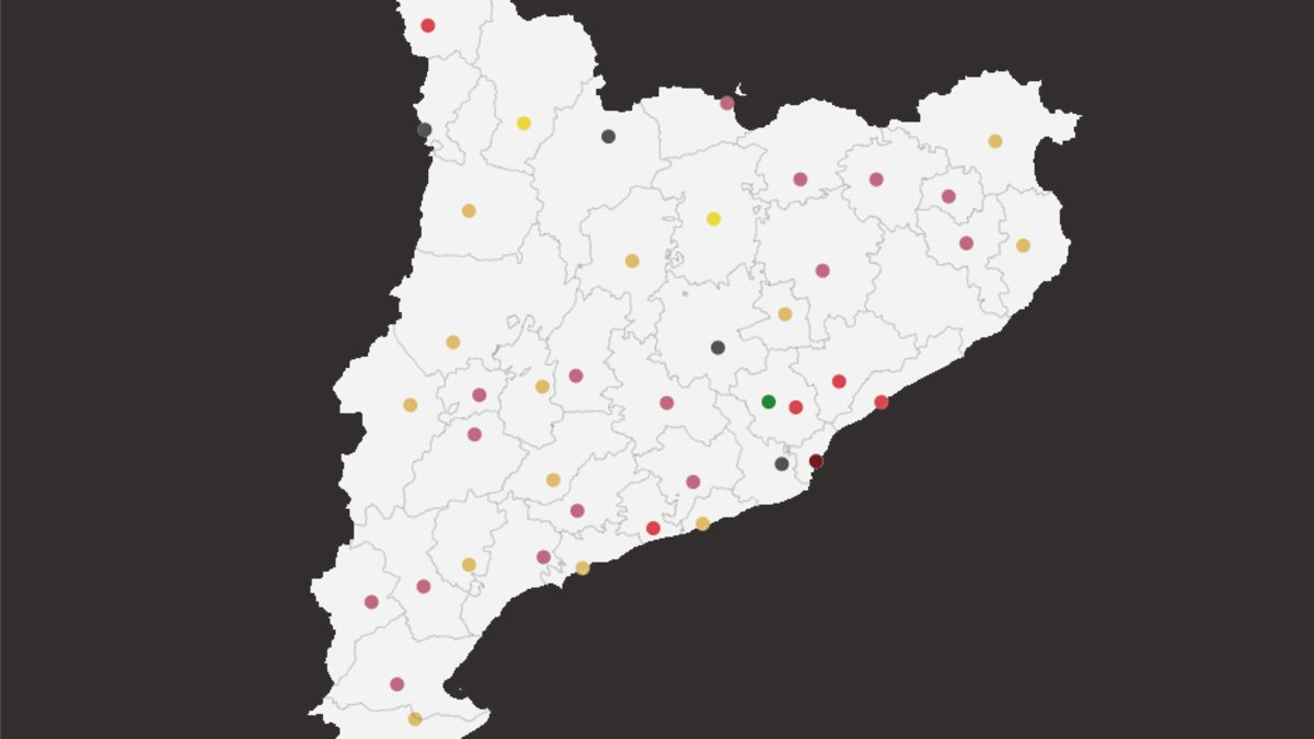 Mapa dels pactes i alcaldes de les principals ciutats de Catalunya