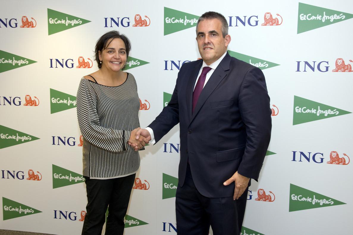 Almudena Román (ING) y Víctor del Pozo (El Corte Inlgés).