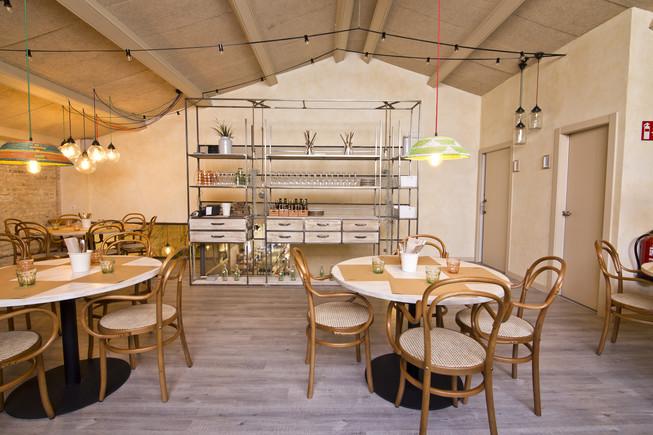 La sala principal del restaurante Amassame.