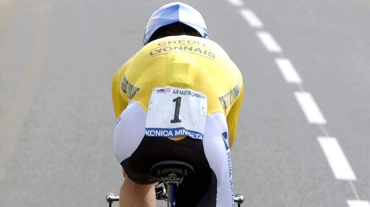 Armstrong, durante el Tour de Francia 2004.