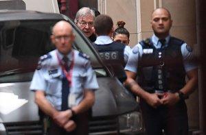 El cardenal George Pell a su arriboa la Corte Suprema de Victoria en Melbourne, Australia. EFE
