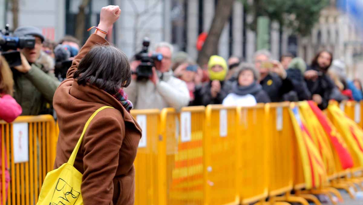 Lexdiputada de la CUP defensa que van guanyar un referèndum que van voler el 80% dels catalans