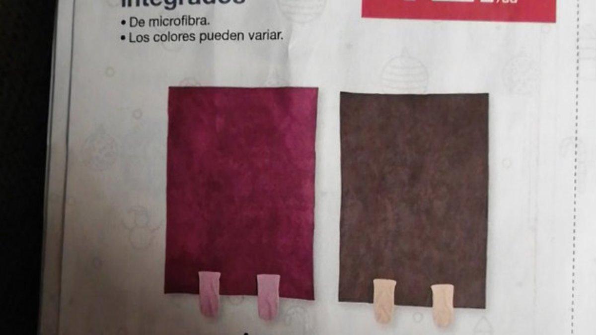 Dos calcetimantas, en un catálogo