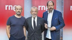 Javier Cámara, José Luis Gómez y Josep Maria Pou, en la presentación del proyecto.