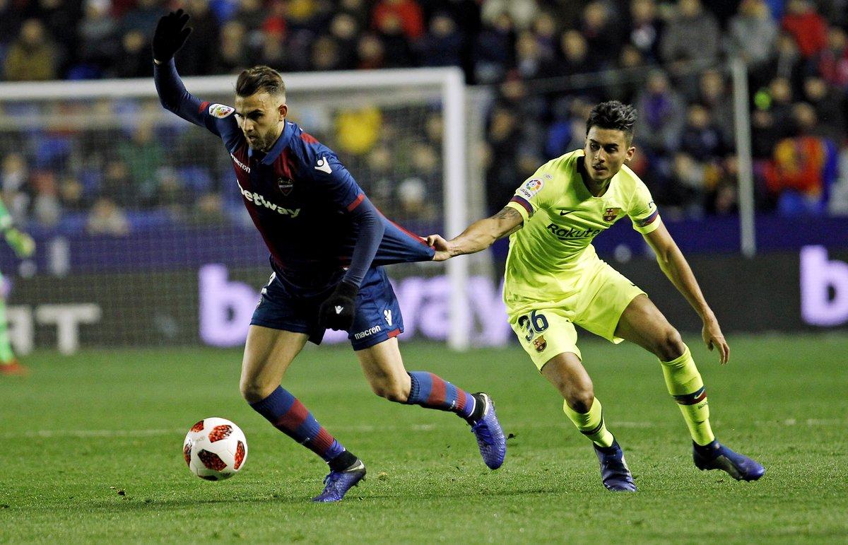 Chumi, durante el partido de Copa contra el Levante.