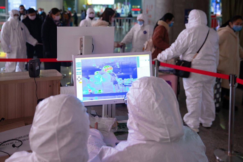 Controles contra la infección en China.