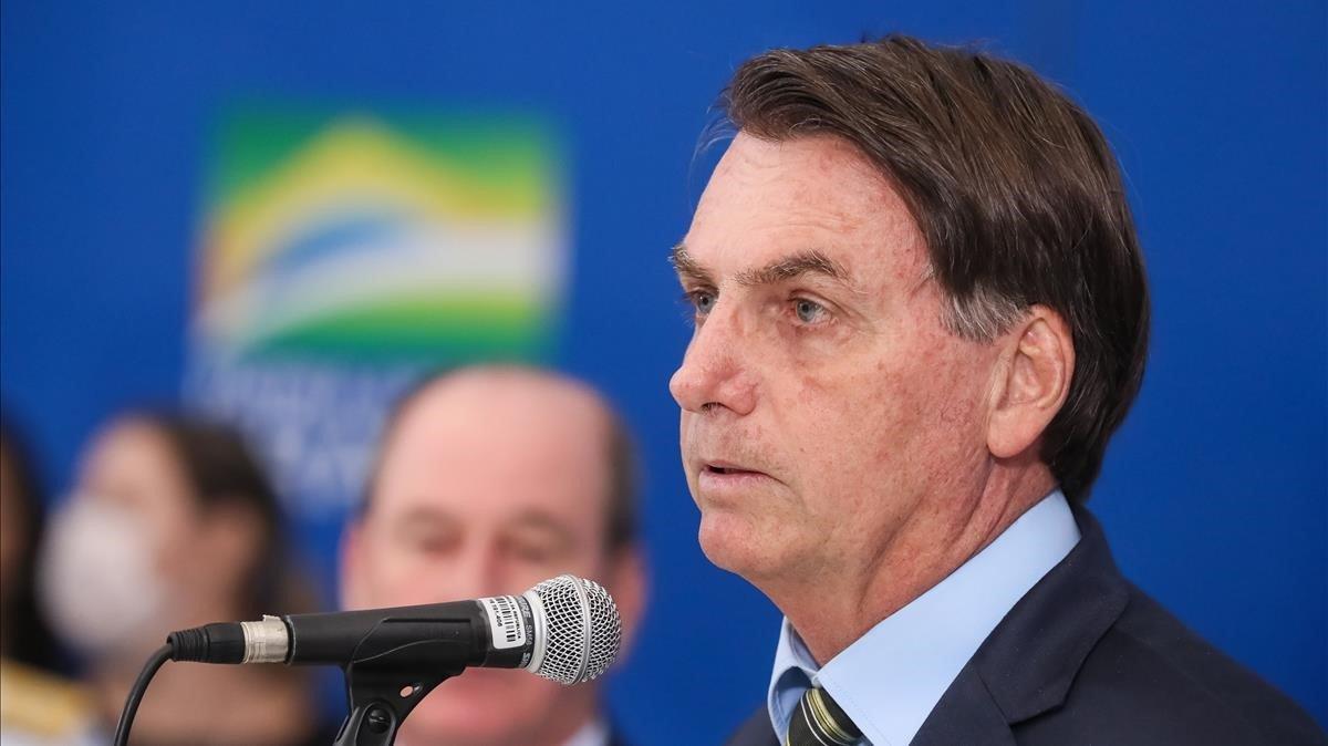 Comparecencia del presidente de Brasil, Jair Bolsonaro, sobre el coronavirus.