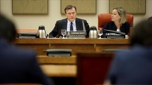 José María Viñals, ex subgobernador del Banco de España, en su comparecencia de hoy en el Congreso de los Diputados.