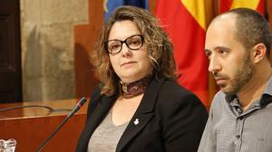 La concejala de ERC en el Ayuntamiento de ManresaMireia Estefanell, en un pleno.