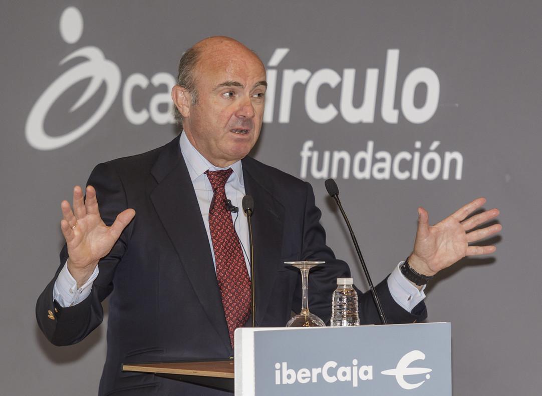 El ministro de Economía, Industria y Competitividad, Luis de Guindos.
