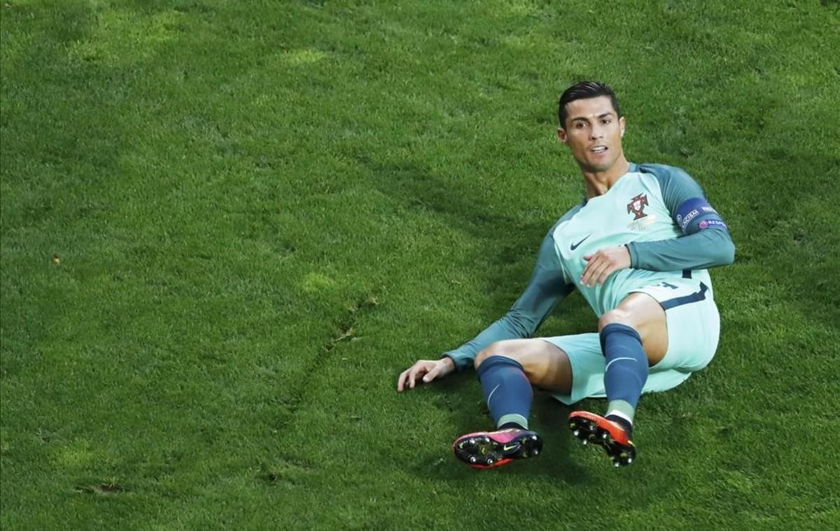 Cristiano Ronaldo durante el partido contra Croacia.