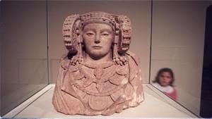 La Dama de Elche en el Museo Arqueológico Nacional (MAN).