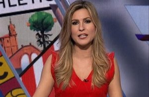 La periodista deportiva Danae Boronat.
