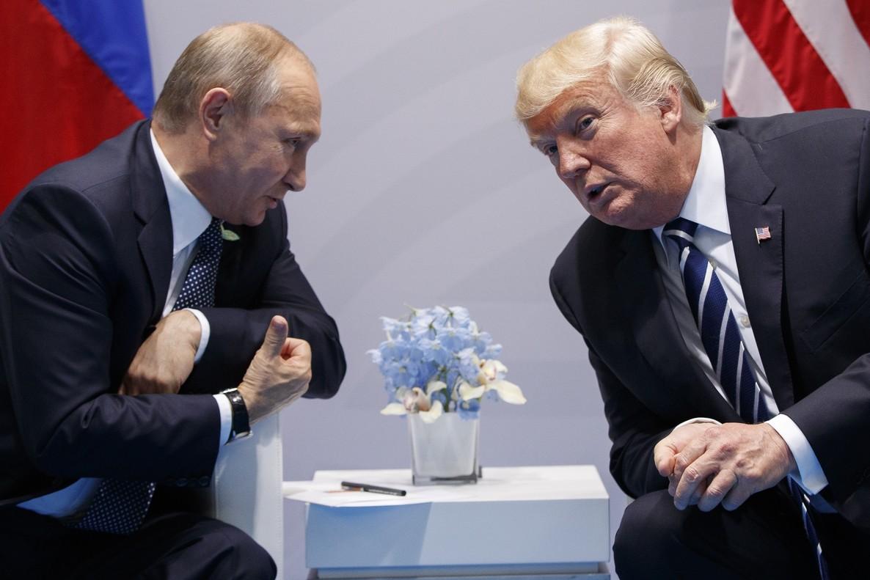 Putin y Trump, en el G-20 de Hamburgo, el pasado julio.
