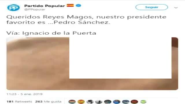 El Govern porta a Fiscalia un tuit del PP que demana als Reis que s'emportin Pedro Sánchez