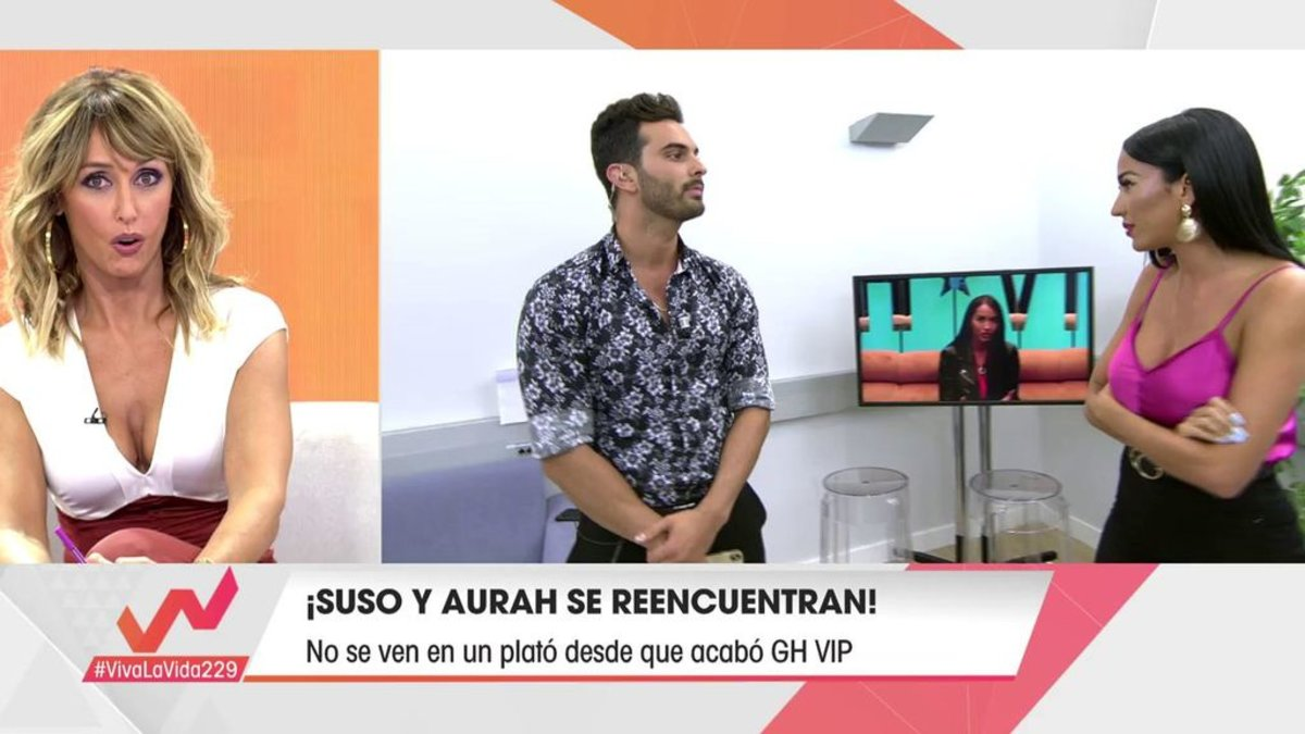 Emma García, Suso Álvarez y Aurah Ruiz en 'Viva la vida'.