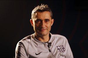 Ernesto Valverde, en la entrevista concedida a Barça TV.