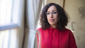 La escritoraNajat El Hachmi, que presenta nueva novela, Mare de llet i mel.