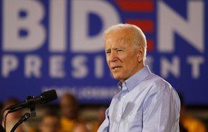 Joe Biden habla durante su primer evento de campaña electoral. EFE