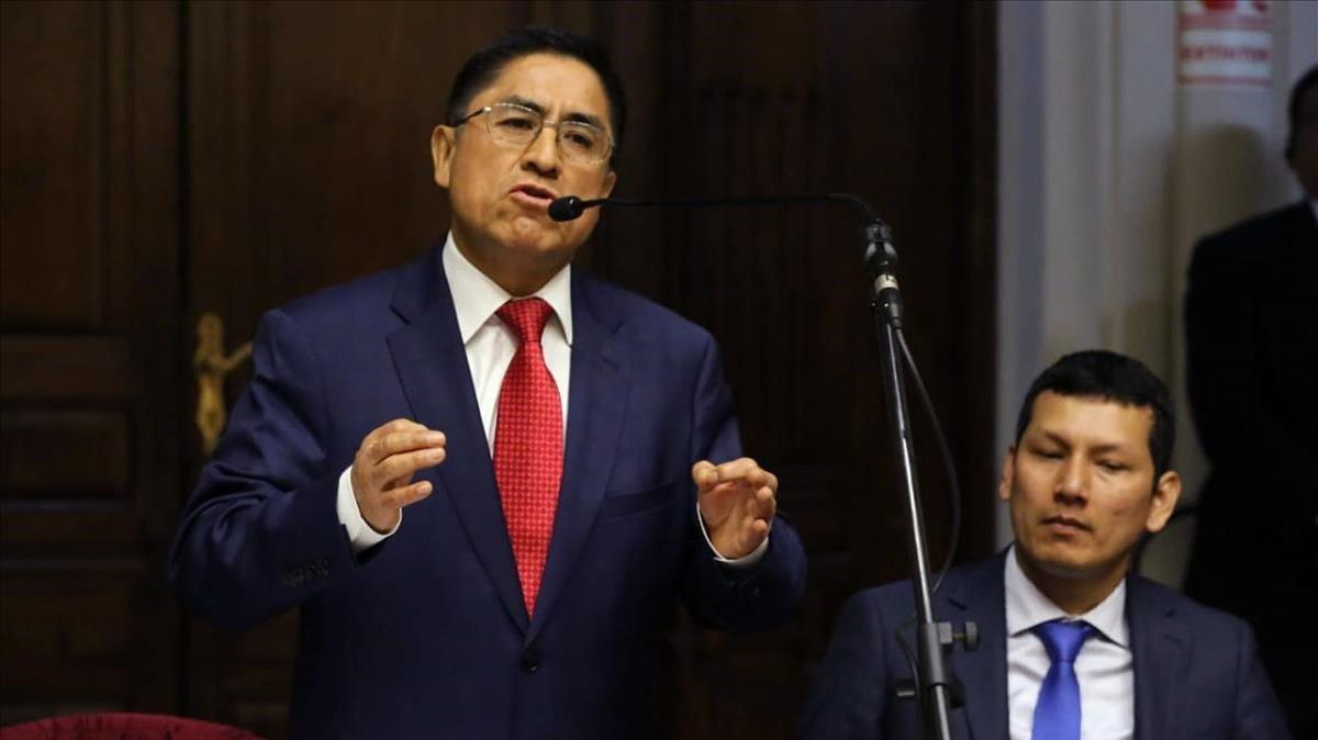 Fotografía del pasado4 de octubre del exjuez Cesar Hinostroza en Lima.