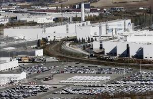 Imagen aérea de la factoría de Volkswagen en Navarra.
