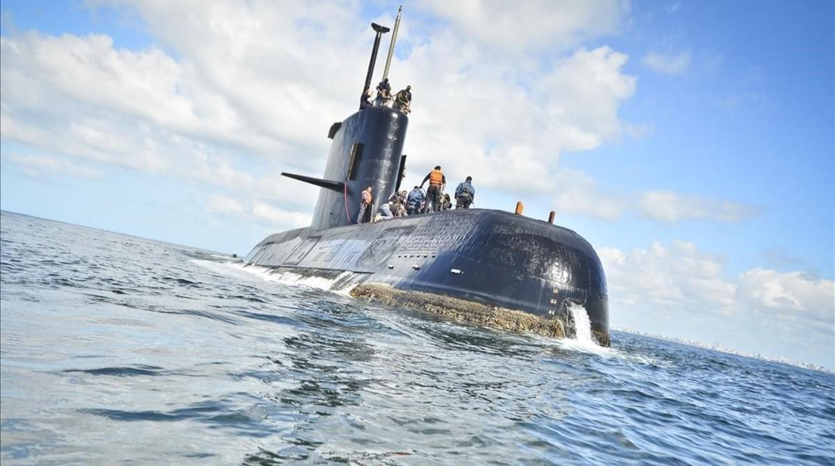 Fotografía sin fecha cedida por la Armada Argentina que muestra el submarinodesaparecido.