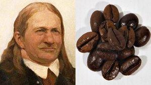 Friedlieb Ferdinand Runge, junto a unos granos de café.