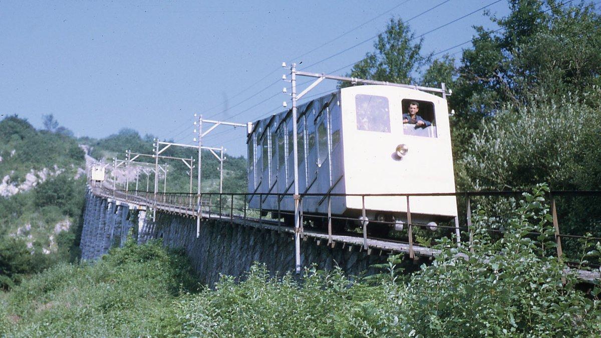 El funicular de Lourdes accidentado, en una imagen de archivo.