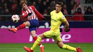 Griezmann dispara y anota ante el Girona en la Copa.