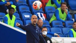 Guardiola, en el partido contra Brighton.