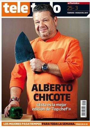 Portada del suplemento Teletodo protagonizada por el chef Alberto Chicote.