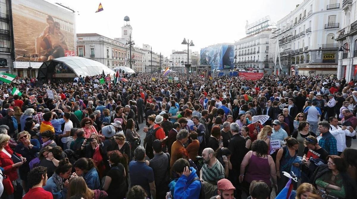 Concentración en la Puerta del Sol.