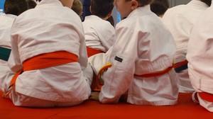 Chicos judokas.