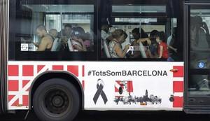 Un autobús de la Nova Xarxa de Bus de Barcelona.