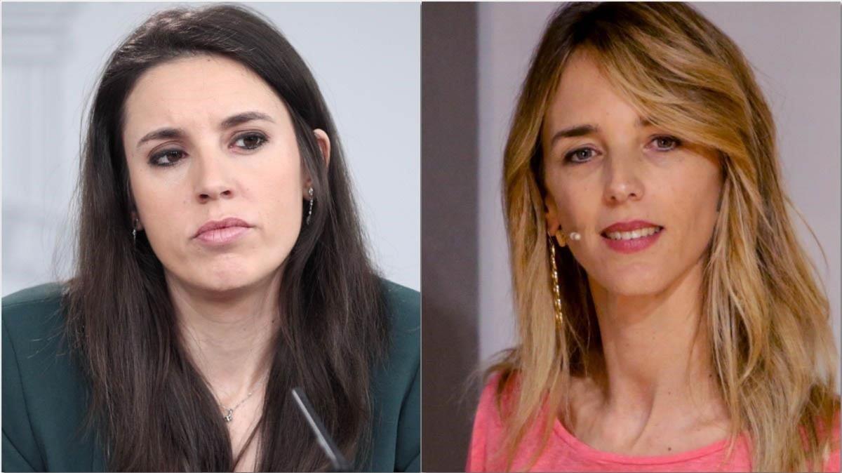 IreneMontero, ministra de Igualdad, izquierda, y Cayetana Álvarez de Toledo, portavoz del PP.