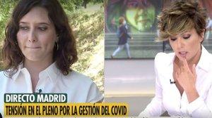 Isabel Díaz Ayuso y Sónsoles Ónega en 'Ya es mediodía'.