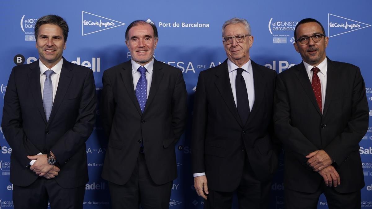 De izquierda a derecha,Jordi Romanach, Joan Miquel Abad, Joan Alegre y Conrado Carnal.
