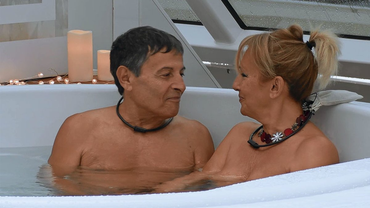 Jero y Adriana en 'First Dates: Crucero'.